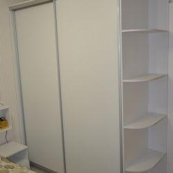 White wardrobe with bedroom