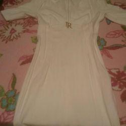 Αγάπη δημοκρατία φόρεμα λευκό τυπωμένο