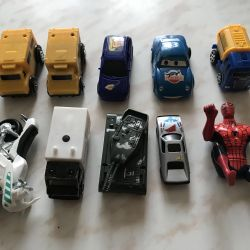 Машинки, лодки на выбор