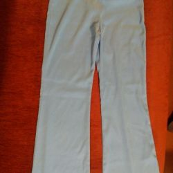 Trousers female turquoise color size 40-42