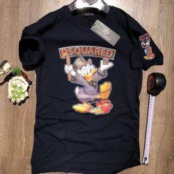 T-shirt βαμβάκι Dsquared 2 νέα. Μαύρο Scrooge