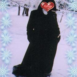 Warm coat with a hood