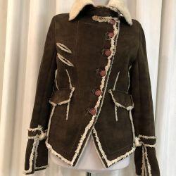 Punto sheepskin coat natural