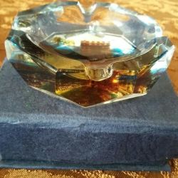 Ashtray miniature crystal souvenir gift