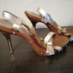 Golden sandals Michael Kors 38'5