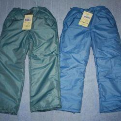 Bahar için YENİ yalıtımlı pantolon, zaten giyilebilir