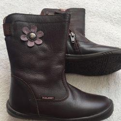 Μπότες, γνήσιο δέρμα, r. 25