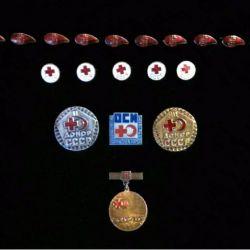 Insigne ale Crucii Roșii. URSS. 19 buc.