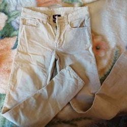 Corduroy jeans. Stylish, branded on 146 / 152cm