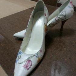 Новые кожаные туфли ALBA италия