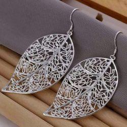 NEW !!! Earrings (925 Silver) LEAVES