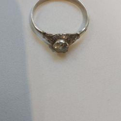 Ασημένιο δαχτυλίδι με κυβικά ζιρκόνια. RR 20.