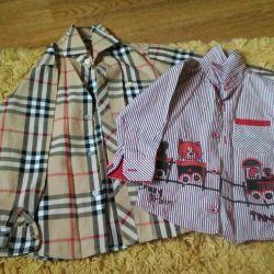 Новые  рубашки/блузы 1 и 5г