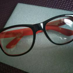 Glasses with anti-glare black and red