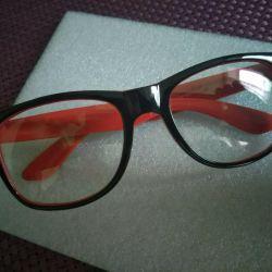 Очки с антибликом черно красные