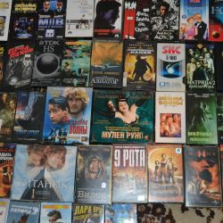DVDs and video cassettes
