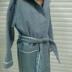 Bathrobe, cotton 100%, size from 104 to 134, GOST