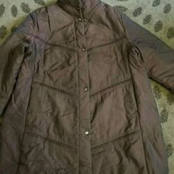 Jacket-short coat of river 54-58 with chocol.-Board. Overflow
