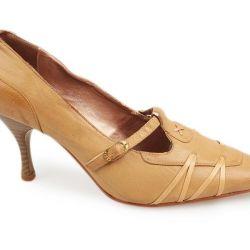 Παπούτσια παπούτσια σε ένα άνετο τακούνι
