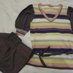 комплект юбка-шорты и кофта к ним