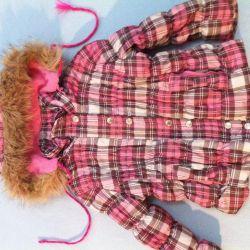 Курточка теплая б\у на 2-4г