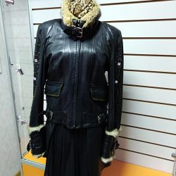Women's jacket, genuine leather