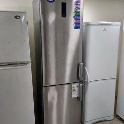 Двухметровый холодильник Beko. Стальной