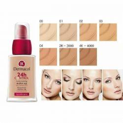 Dermakol 24 controls the makeup.