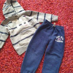 Hm sweatshirt + waikiki 86/92 pants
