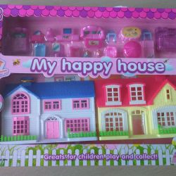 House NEW with furniture and figures