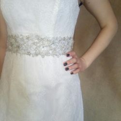 wedding lace with train