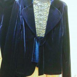 Costum de pantaloni de catifea