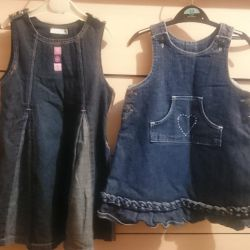 Jeans sundresses 2-3years