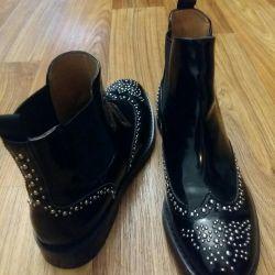 Νέες δερμάτινες μπότες μποτάκια μπότες Ιταλία