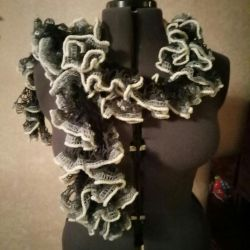Lace crochet scarves