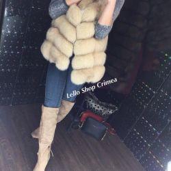 Fur vest 70cm