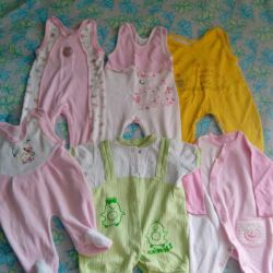 Overalls for the girl, from 6 months to 1 year.