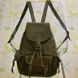 Backpack leather / suede, new, biker