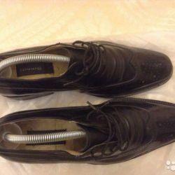 кожаные мужские туфли брогги