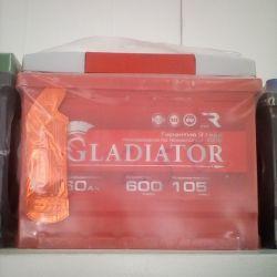 Аккумулятор GLADIATOR 60AH 600A новый