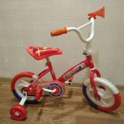 Bicycle children's white-red 11