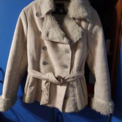 Mini sheepskin coat.