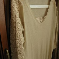 Exquisite sweater with expensive lace