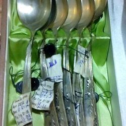 Un set de linguri argint USSR