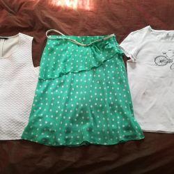 T-shirts και φούστα