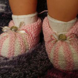 Baby booties.