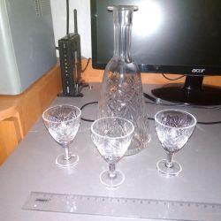 Γυαλιά, ποτήρια, κούπες κρυστάλλου