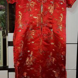 Çin saten elbise