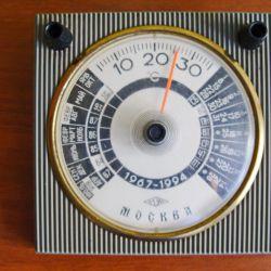 Desktop thermometer - calendar. USSR.