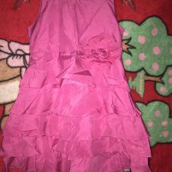 Parlak bebek elbisesi fuşya